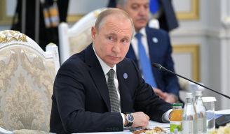 Президент РФ Владимир Путин на заседании Совета глав государств - членов Шанхайской организации сотрудничества (ШОС) в Бишкеке