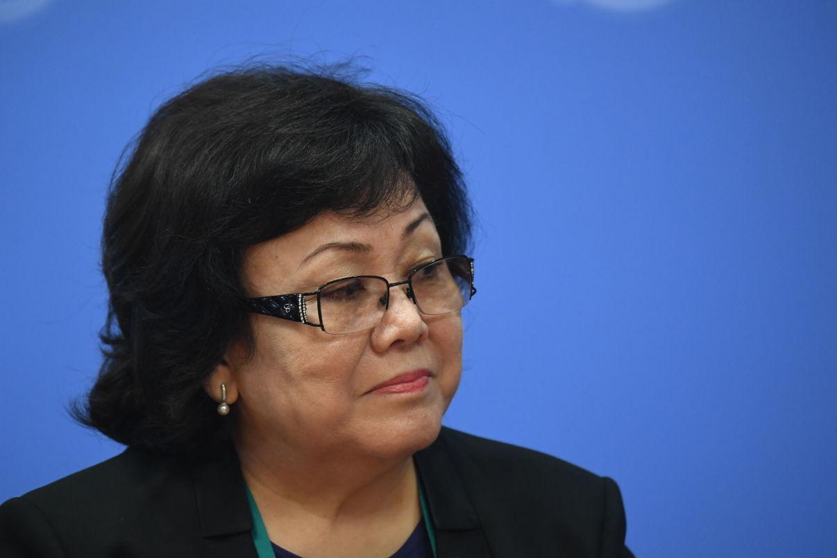 Судья Верховного суда Казахстана Улбосын Сулейменова на совещании председателей верховных судов государств-членов ШОС (Шанхайской организации сотрудничества) в Сочи