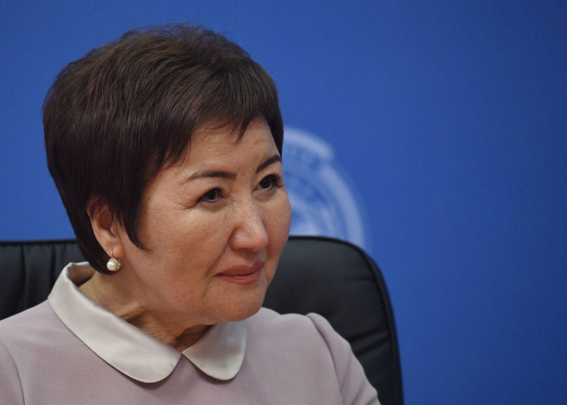 Председатель Верховного суда Киргизии Гульбара Калиева на совещании председателей верховных судов государств-членов ШОС (Шанхайской организации сотрудничества) в Сочи