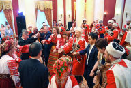 Performance by the Kuban Cossack Choir during the welcoming dinner on behalf of the Supreme Court of Russia held as part of the meeting of Supreme Court Chief Justices of the Shanghai Cooperation Organisation (SCO) in Sochi