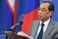 Chief Justice of the Supreme Court of India Ranjan Gogoi speaking at the opening of the 14th Meeting of Supreme Court Chief Justices of the Shanghai Cooperation Organisation (SCO) Member States