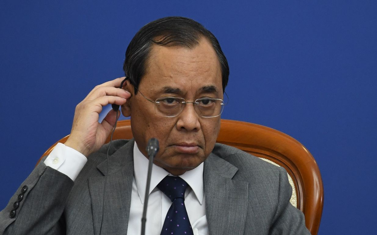 Chief Justice of the Supreme Court of India Ranjan Gogoi at the 14th Meeting of Supreme Court Chief Justices of the Shanghai Cooperation Organisation (SCO) Member States.