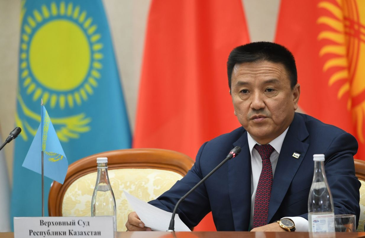 Chief Justice of the Karaganda Regional Court (Kazakhstan) Nurserik Sharipov at the 14th Meeting of Supreme Court Chief Justices of the Shanghai Cooperation Organisation (SCO) Member States.