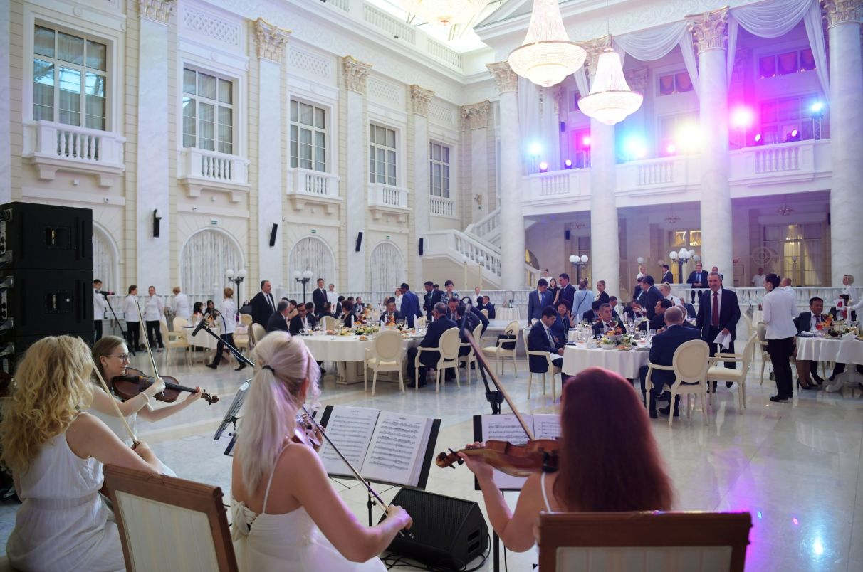 Gala reception hosted by Chief Justice of the Supreme Court of Russia Vyacheslav Lebedev for the participants of the 14th Meeting of Supreme Court Chief Justices of the Shanghai Cooperation Organisation (SCO) Member States
