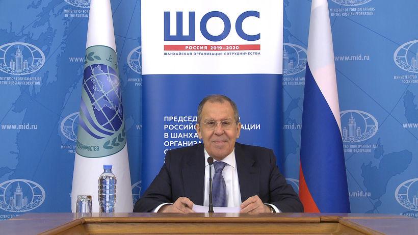О видеоконференции министров иностранных дел  государств-членов ШОС